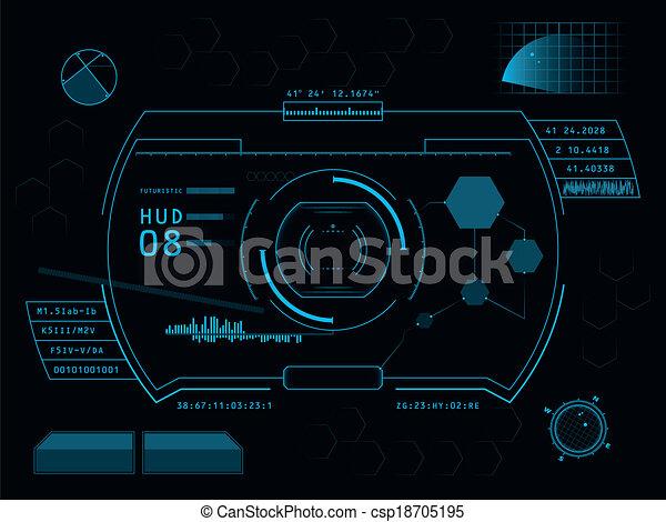 interface, hud, utilisateur, futuriste - csp18705195