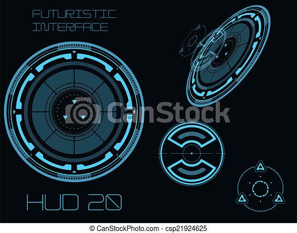 interface, hud, utilisateur, futuriste - csp21924625