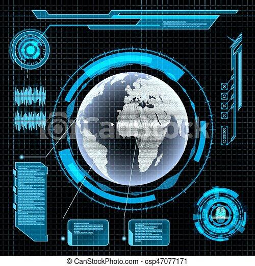 interface, hud, utilisateur, futuriste - csp47077171