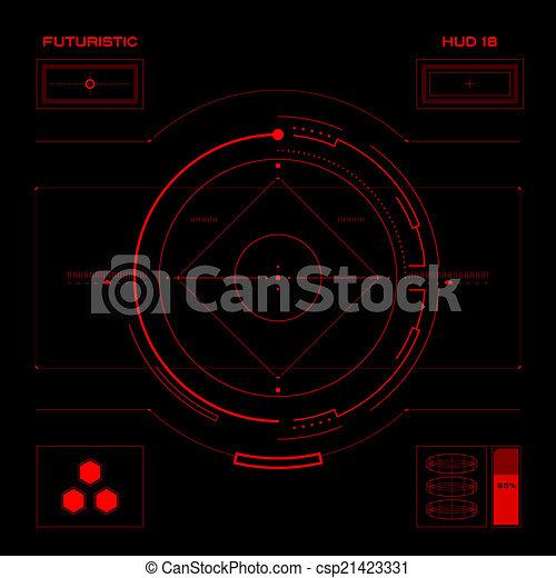 interface, hud, utilisateur, futuriste - csp21423331