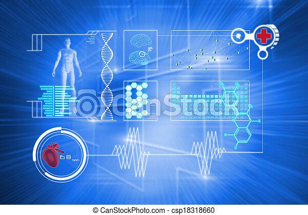 interface, image composée, monde médical - csp18318660