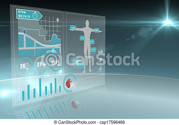 interface, monde médical - csp17596466