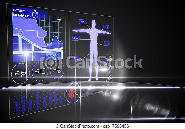 interface, monde médical - csp17596456