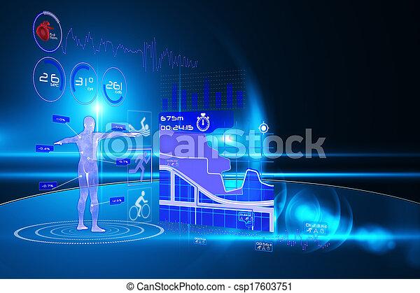 interface, monde médical - csp17603751