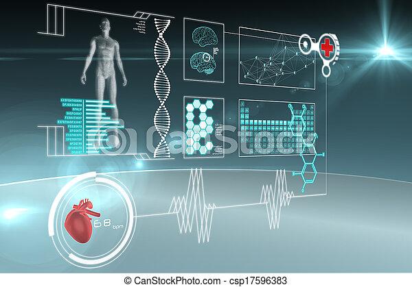 interface, monde médical - csp17596383