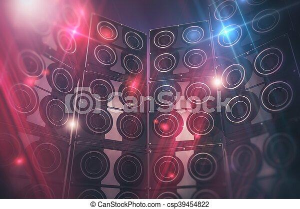 interlocuteurs, fond, disco - csp39454822