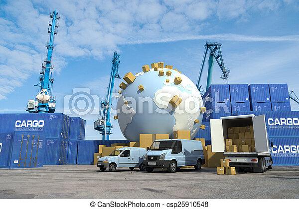 international, transport, docks - csp25910548