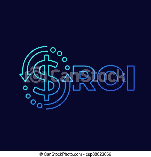 investissement, conception, linéaire, retour, roi - csp88623666