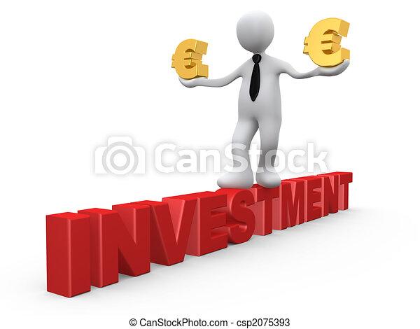 investissement, euro - csp2075393