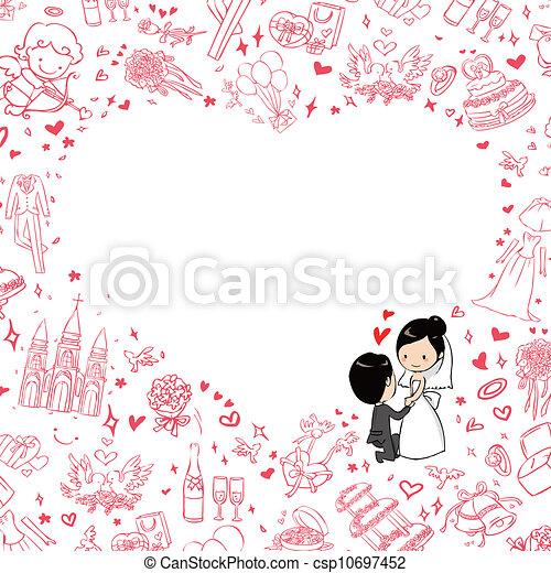 invitation mariage - csp10697452