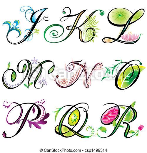 j-r, alphabets, éléments - csp1499514