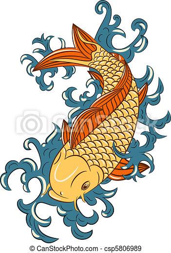 japonaise, koi, (carp, style, fish) - csp5806989