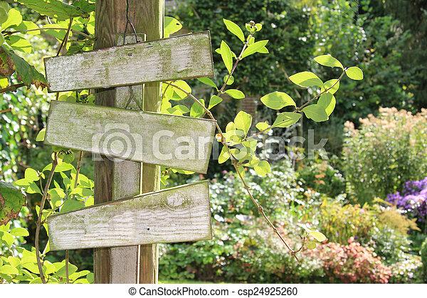 jardin, signe. - csp24925260