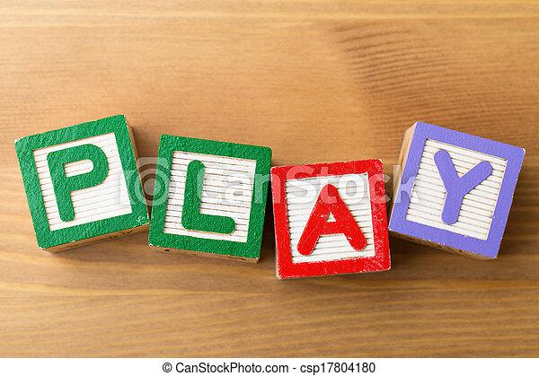 jeu, jouet, bloc - csp17804180