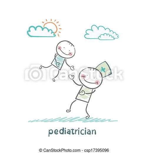 jouer, pédiatre, enfant - csp17395096