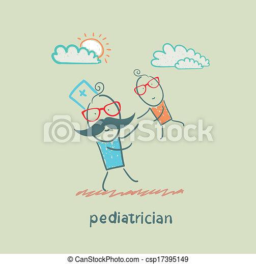 jouer, pédiatre, enfant - csp17395149