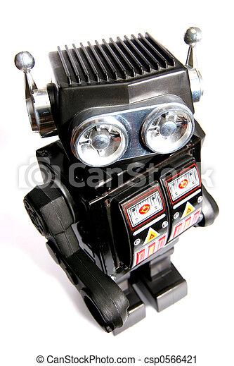 jouet, étain, robot, vieux - csp0566421