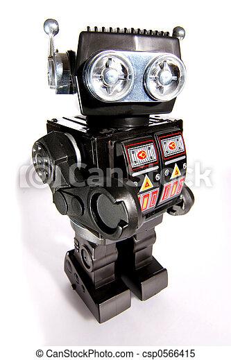 jouet, étain, robot, vieux - csp0566415