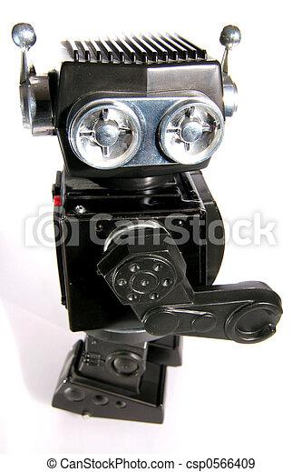 jouet, étain, robot, vieux - csp0566409
