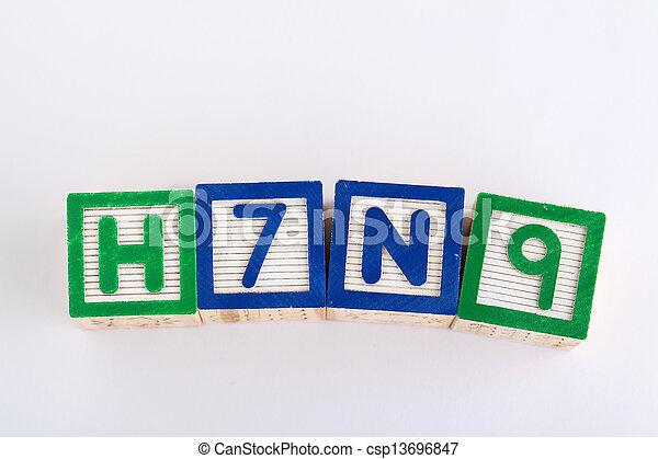 jouet alphabet, h7n9, bloc - csp13696847