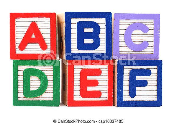 jouet bois, bloc - csp18337485