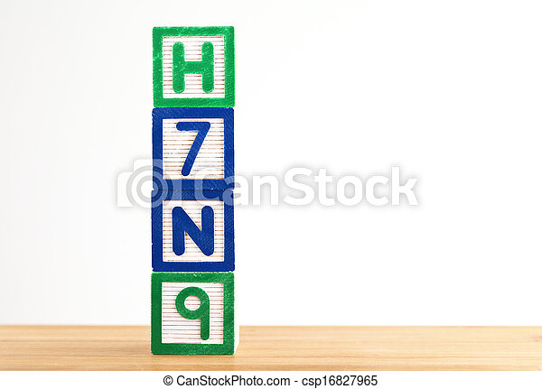jouet bois, h7n9, bloc - csp16827965