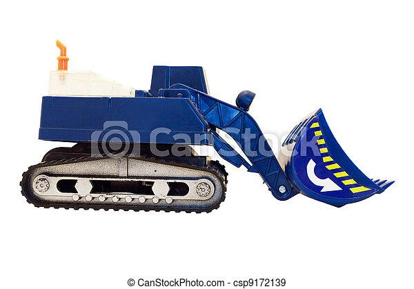 jouet, excavateur, isolé - csp9172139