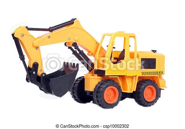 jouet, excavateur, plastique - csp10002302