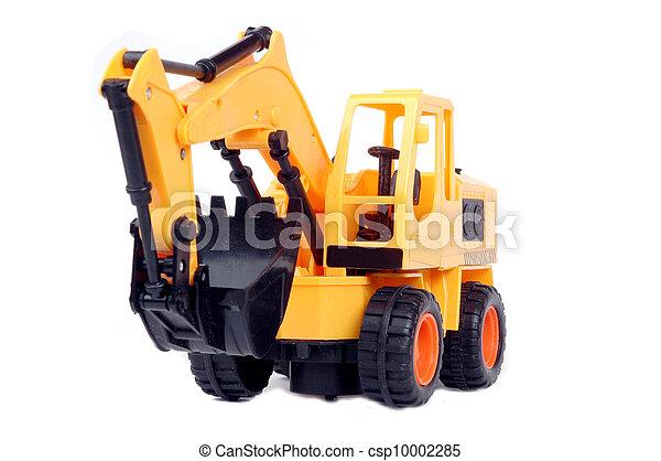 jouet, excavateur, plastique - csp10002285