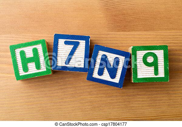jouet, h7n9, bloc - csp17804177