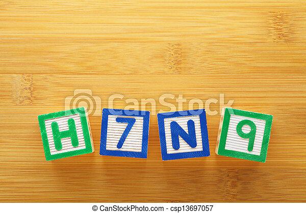 jouet, h7n9, bloc - csp13697057