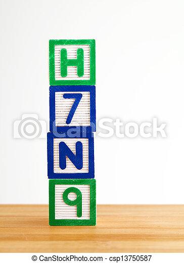 jouet, h7n9, bloc - csp13750587