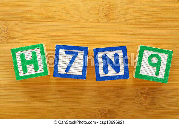 jouet, h7n9, bloc - csp13696921
