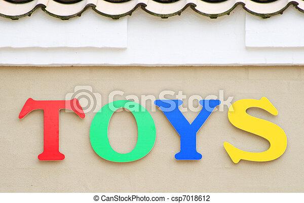 jouets, signe - csp7018612