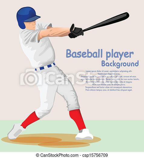 joueur, base-ball - csp15756709