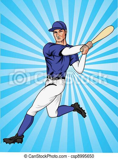 joueur, base-ball - csp8995650