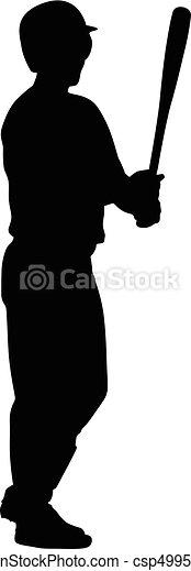 joueur, base-ball - csp49950567