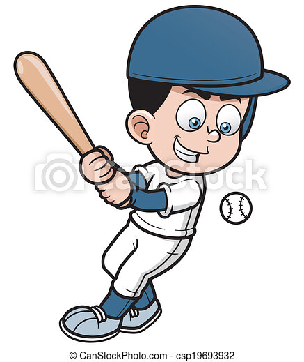 joueur, base-ball - csp19693932