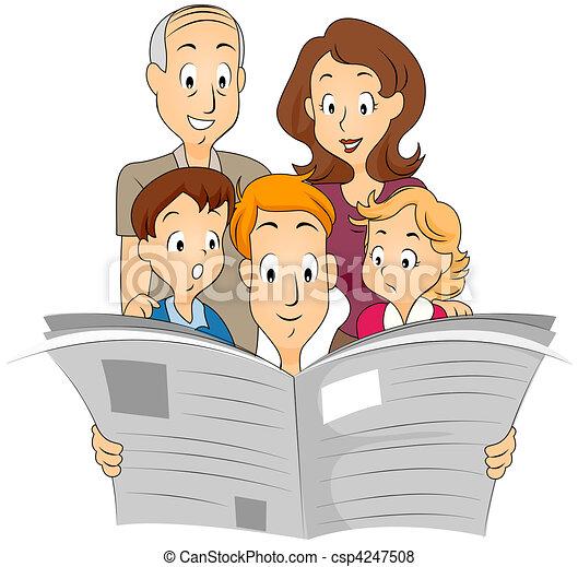 journal, famille - csp4247508