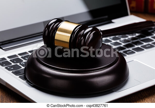 juge, marteau, clavier portable - csp43827761