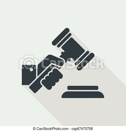 juge, marteau, tenant main - csp67470708