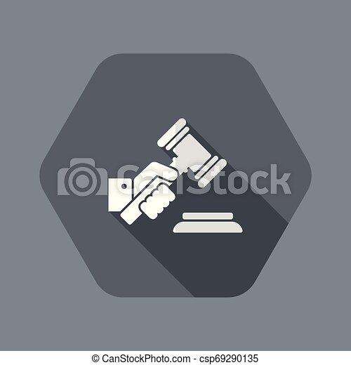 juge, possession main, marteau - csp69290135