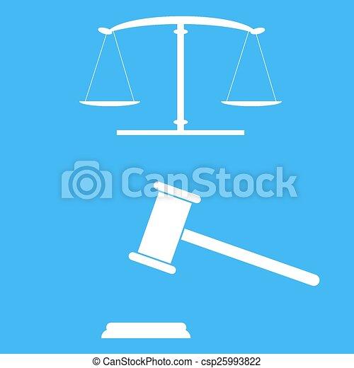 justice, balances, gavel. - csp25993822
