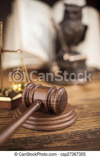 justice, concept, marteau, maillet - csp27367355