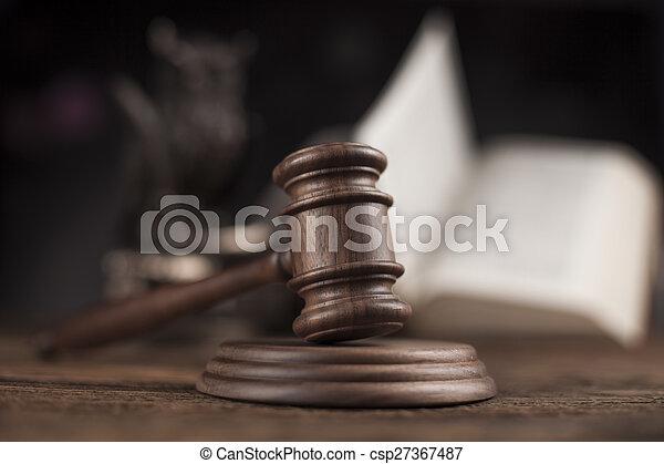 justice, concept, marteau, maillet - csp27367487