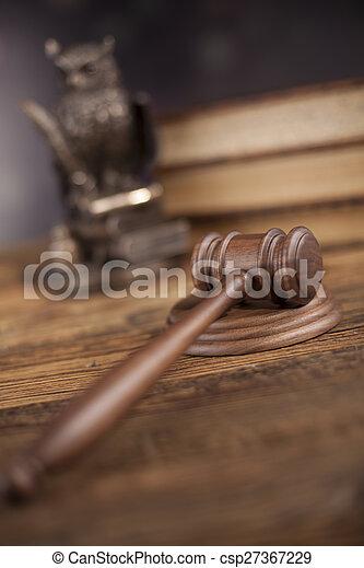 justice, concept, marteau, maillet - csp27367229