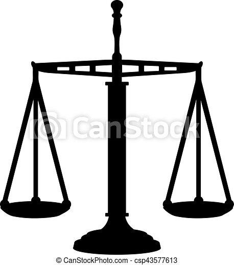 justice, grand, échelle, égal - csp43577613