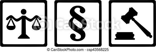 justice, symboles - csp43568225