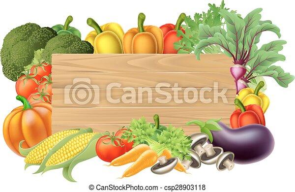 légume, frais, signe - csp28903118
