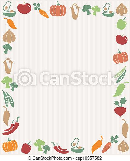 légumes, cadre - csp10357582